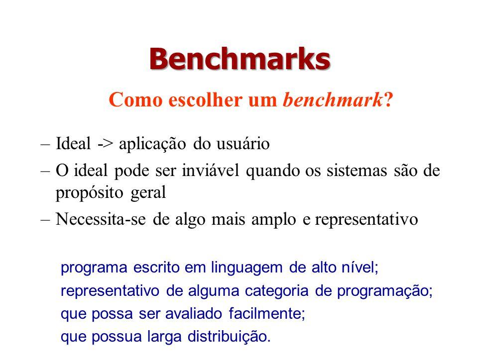 Como escolher um benchmark