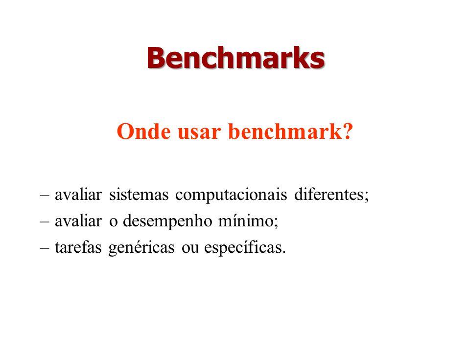 Benchmarks Onde usar benchmark
