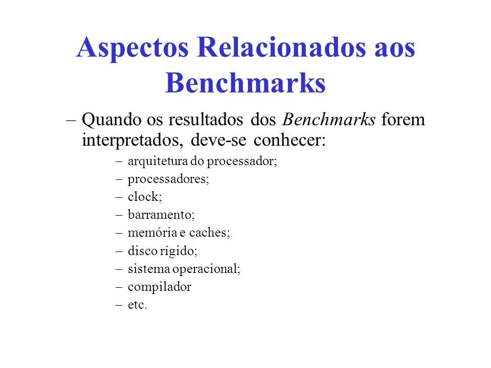 Aspectos Relacionados aos Benchmarks