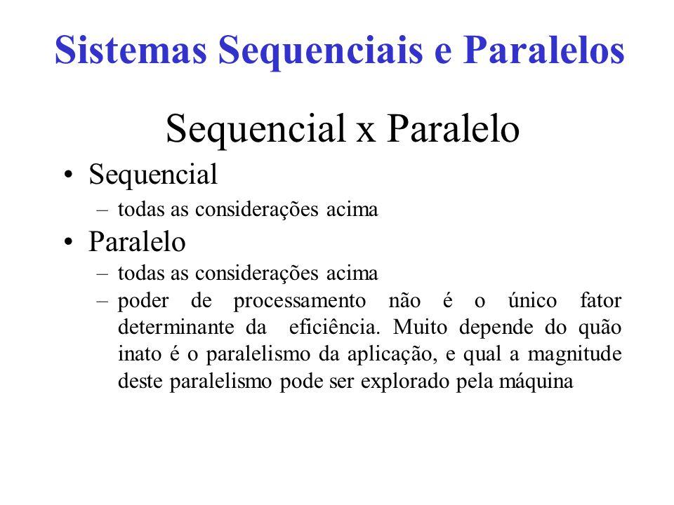 Sistemas Sequenciais e Paralelos