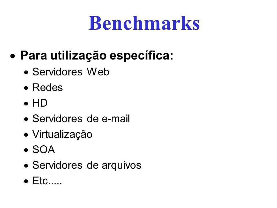 Benchmarks Para utilização específica: Servidores Web Redes HD