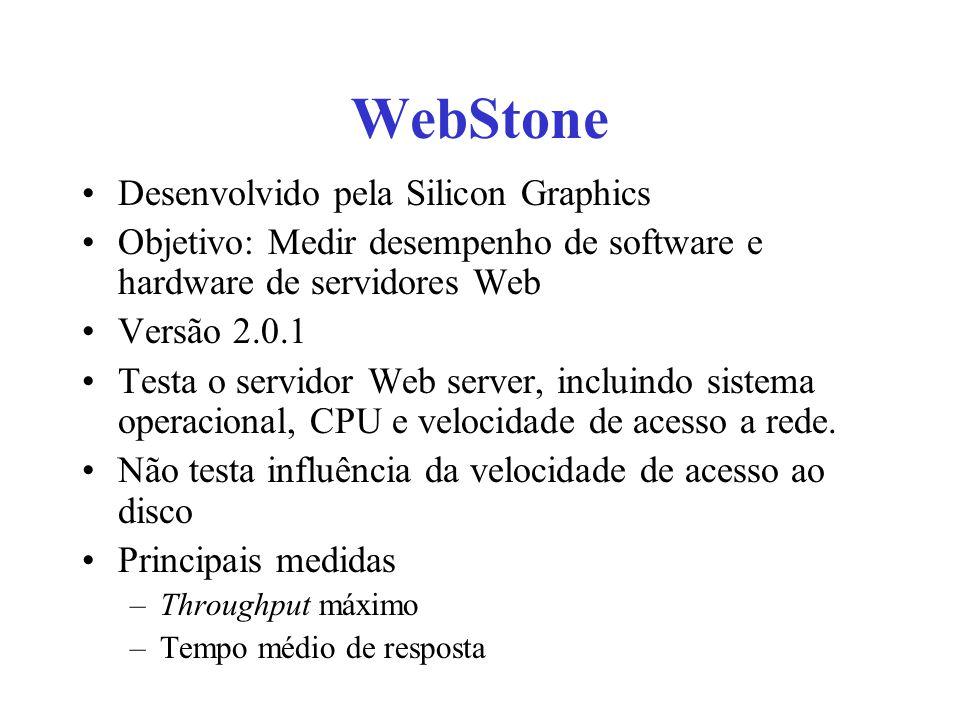 WebStone Desenvolvido pela Silicon Graphics