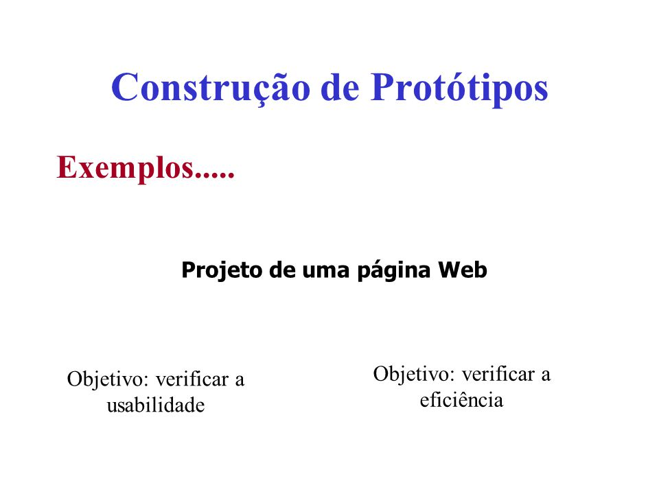 Construção de Protótipos