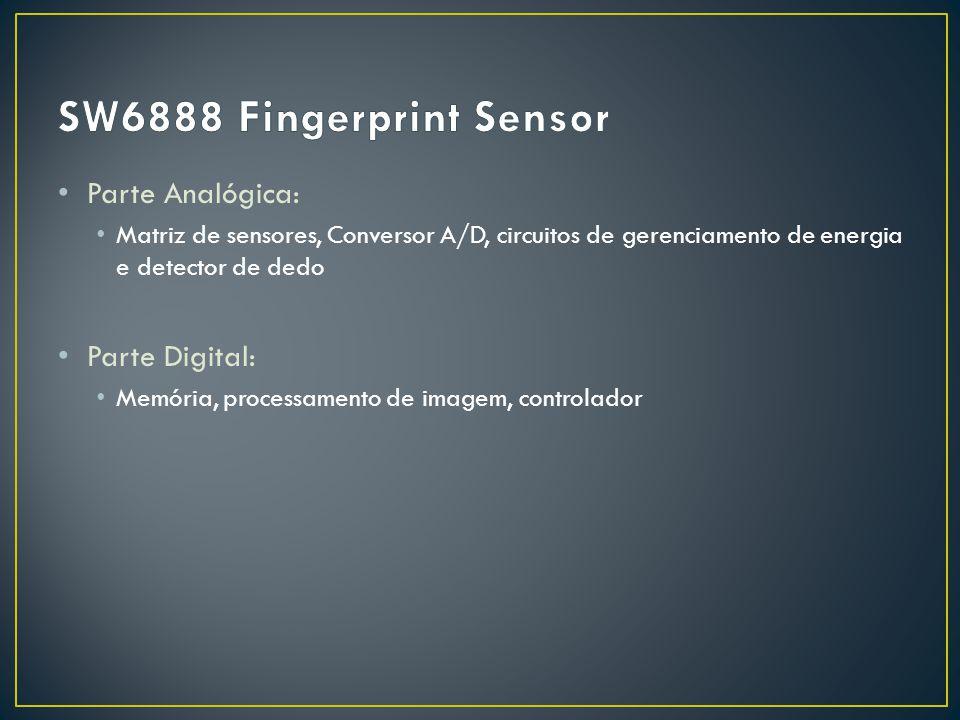 SW6888 Fingerprint Sensor Parte Analógica: Parte Digital: