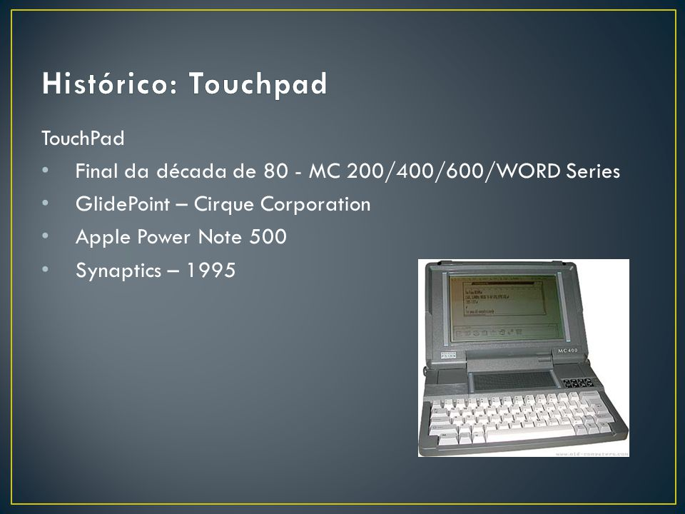 Histórico: Touchpad TouchPad