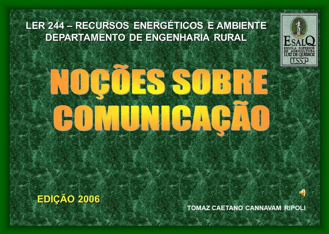 NOÇÕES SOBRE COMUNICAÇÃO LER 244 – RECURSOS ENERGÉTICOS E AMBIENTE