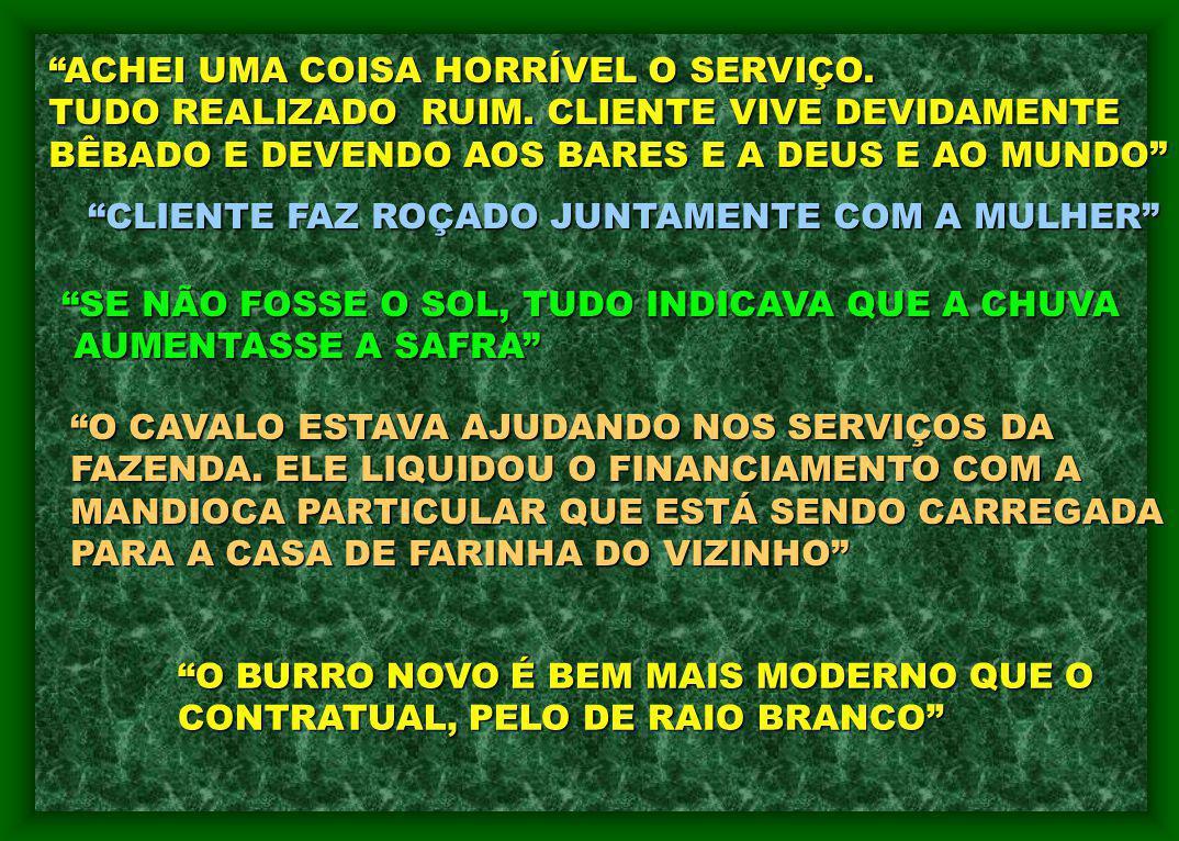ACHEI UMA COISA HORRÍVEL O SERVIÇO.