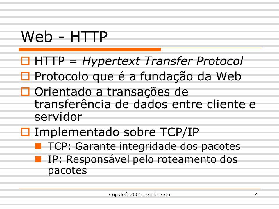 Web - HTTP HTTP = Hypertext Transfer Protocol