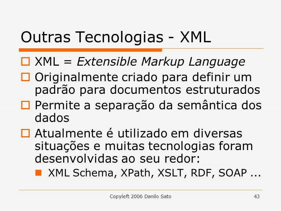 Outras Tecnologias - XML