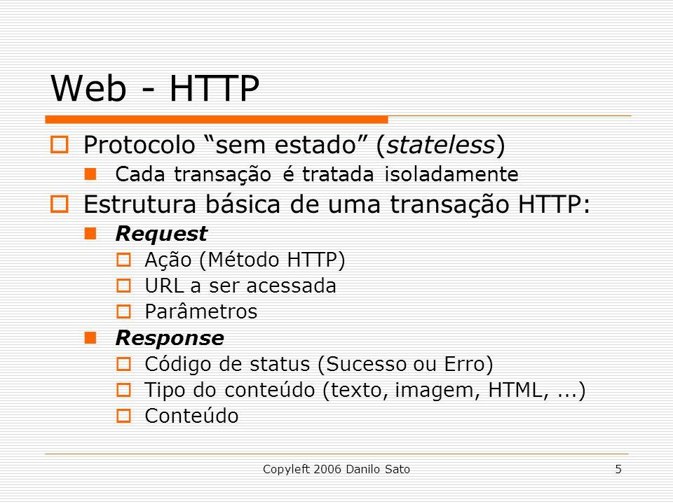 Web - HTTP Protocolo sem estado (stateless)