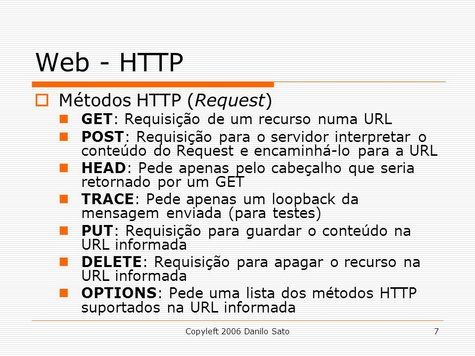 Web - HTTP Métodos HTTP (Request)