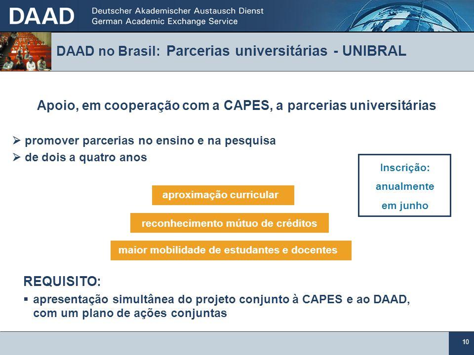 DAAD no Brasil: Parcerias universitárias - UNIBRAL