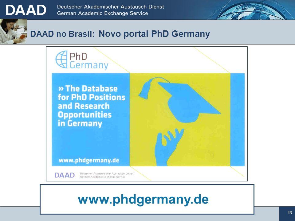 DAAD no Brasil: Novo portal PhD Germany