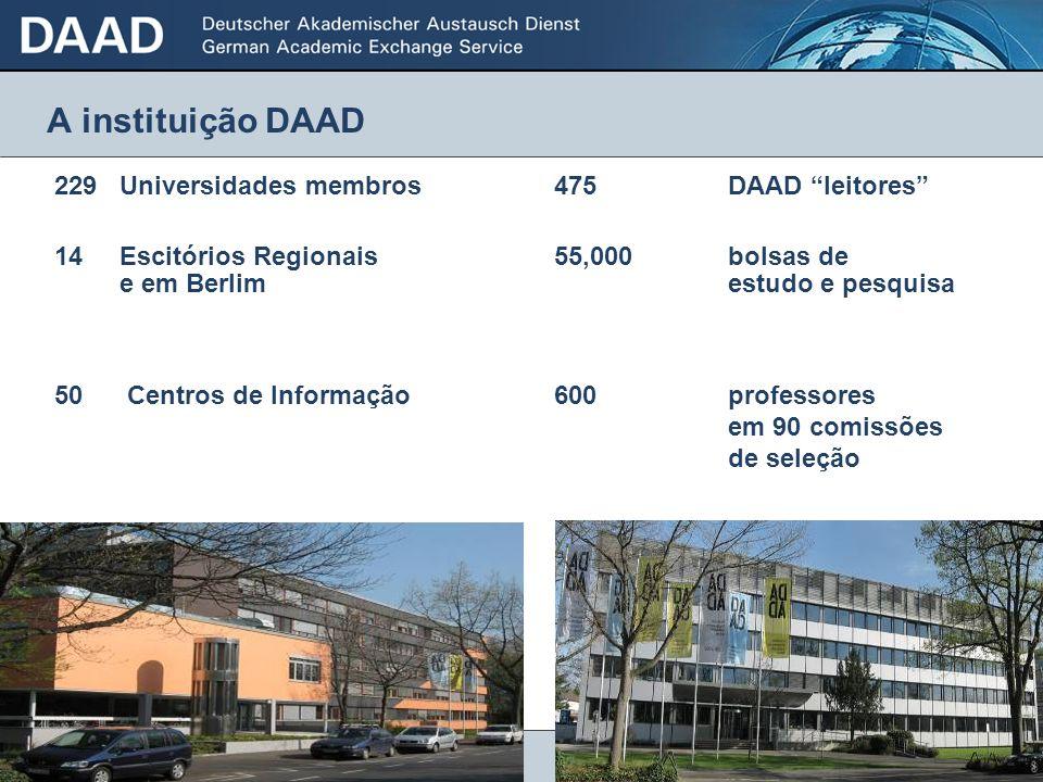 A instituição DAAD 229 Universidades membros 475 DAAD leitores