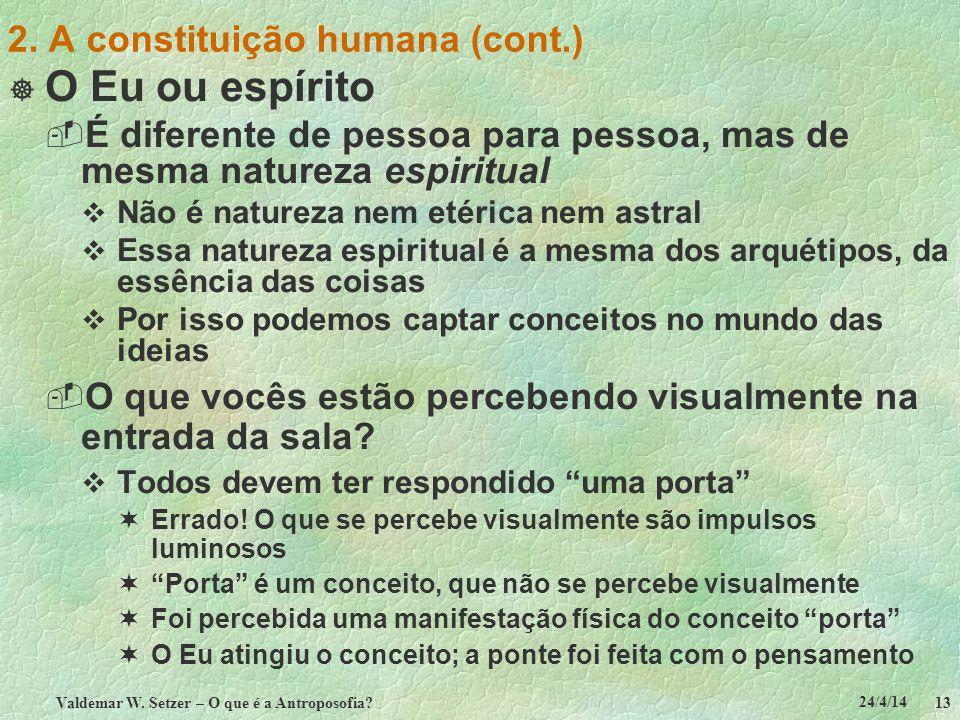 2. A constituição humana (cont.)