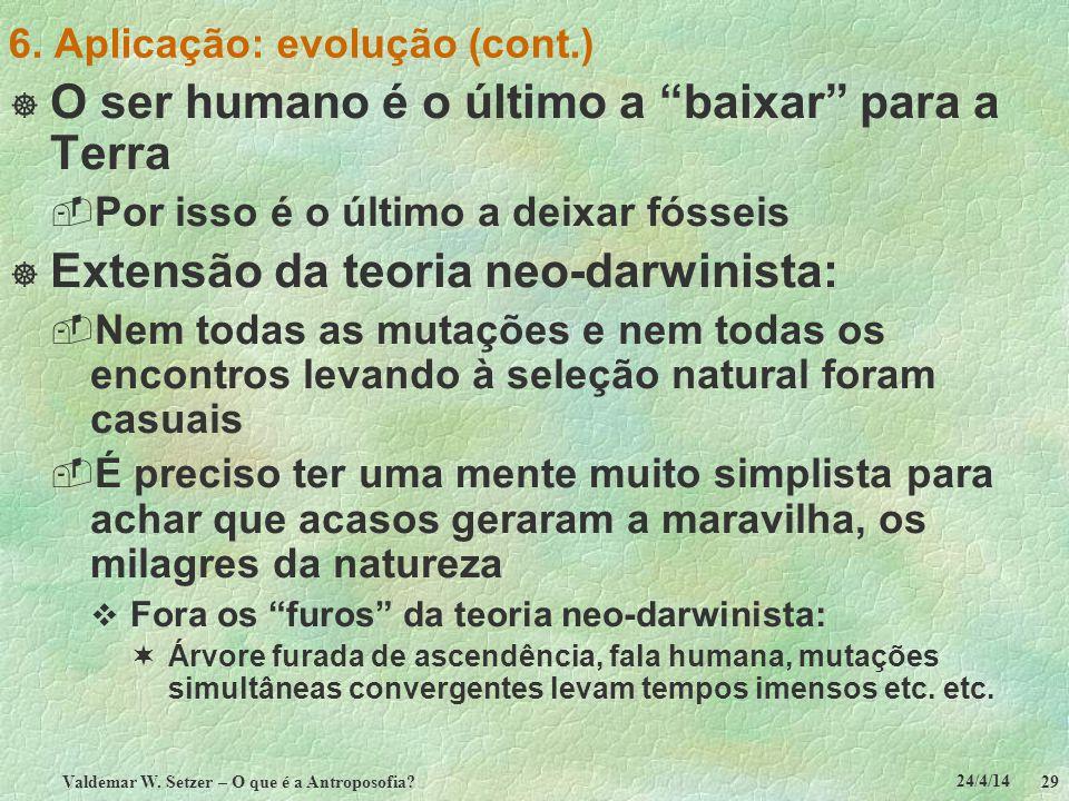 6. Aplicação: evolução (cont.)