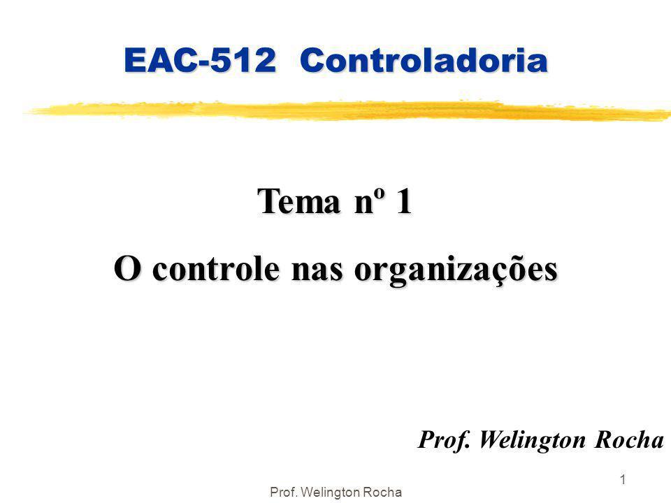 O controle nas organizações