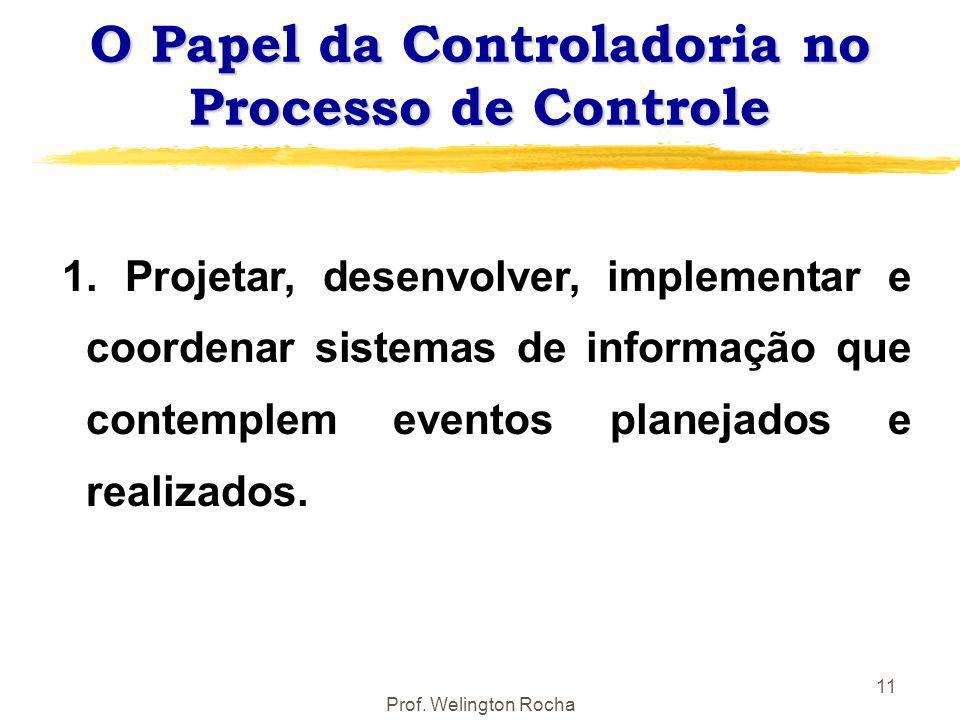 O Papel da Controladoria no Processo de Controle