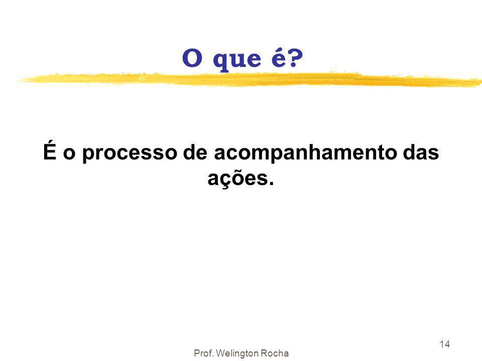 É o processo de acompanhamento das ações.