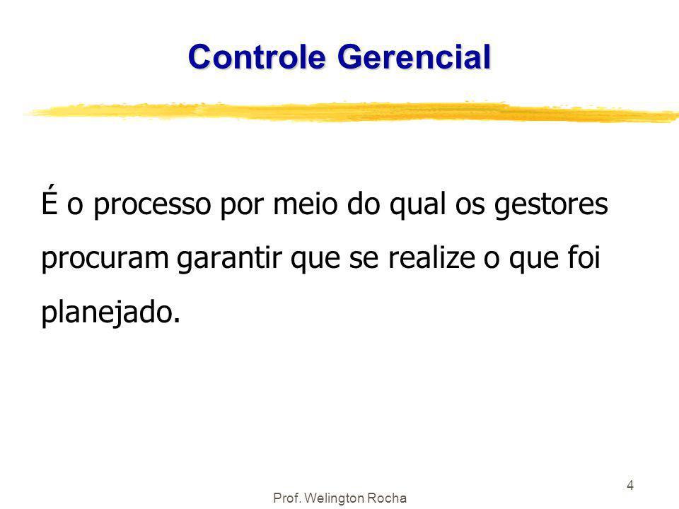 Controle Gerencial É o processo por meio do qual os gestores procuram garantir que se realize o que foi planejado.