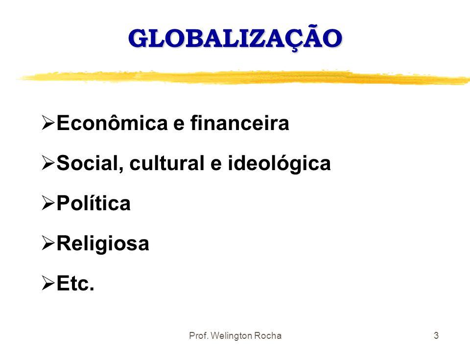GLOBALIZAÇÃO Econômica e financeira Social, cultural e ideológica