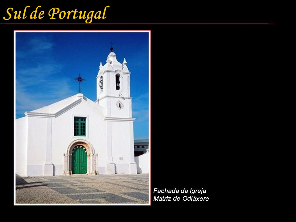 Sul de Portugal Fachada da Igreja Matriz de Odiáxere