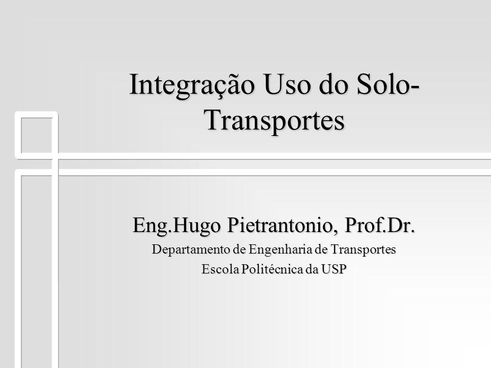 Integração Uso do Solo-Transportes