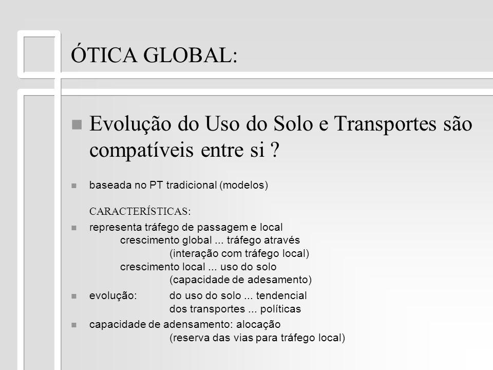 Evolução do Uso do Solo e Transportes são compatíveis entre si