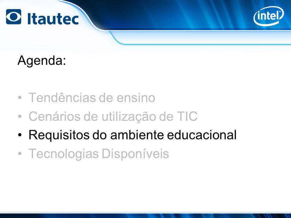 Agenda: Tendências de ensino. Cenários de utilização de TIC.