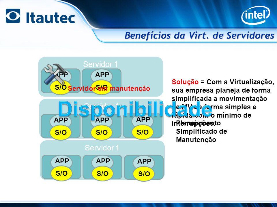 Benefícios da Virt. de Servidores