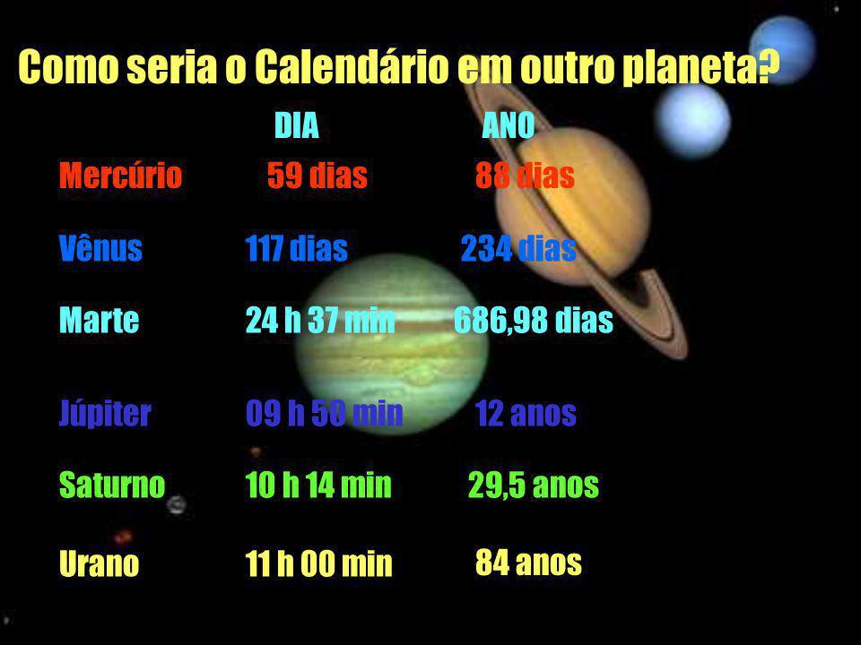 Como seria o Calendário em outro planeta