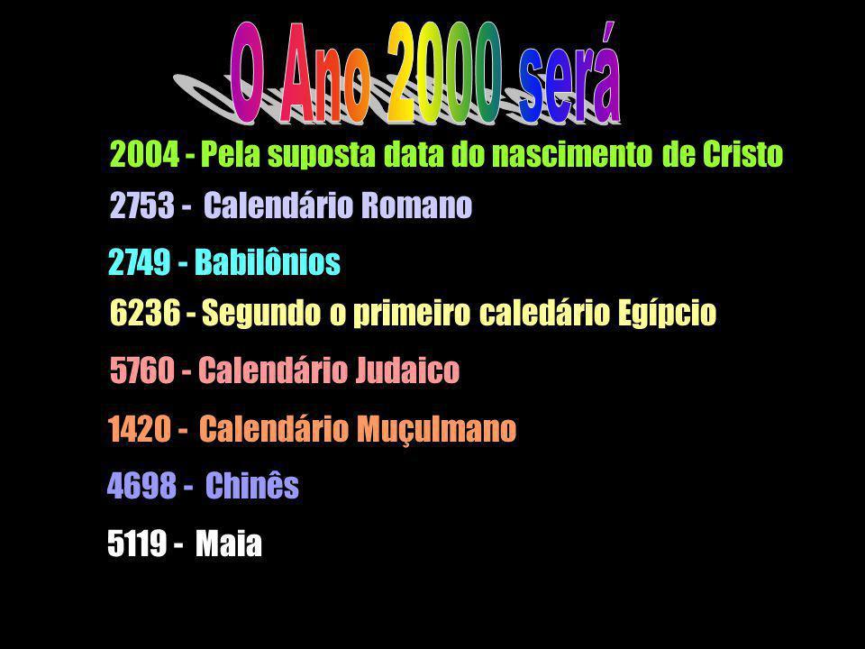 O Ano 2000 será 2004 - Pela suposta data do nascimento de Cristo