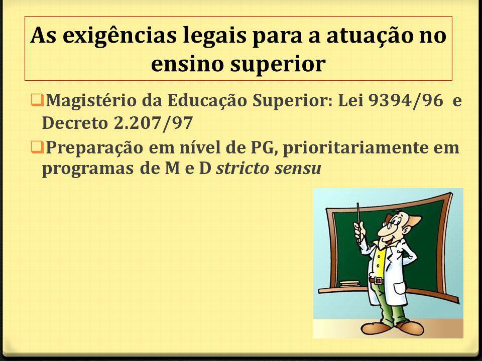 As exigências legais para a atuação no ensino superior