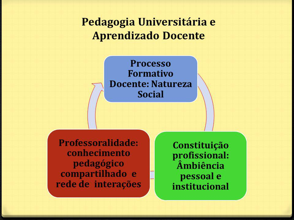 Pedagogia Universitária e Aprendizado Docente