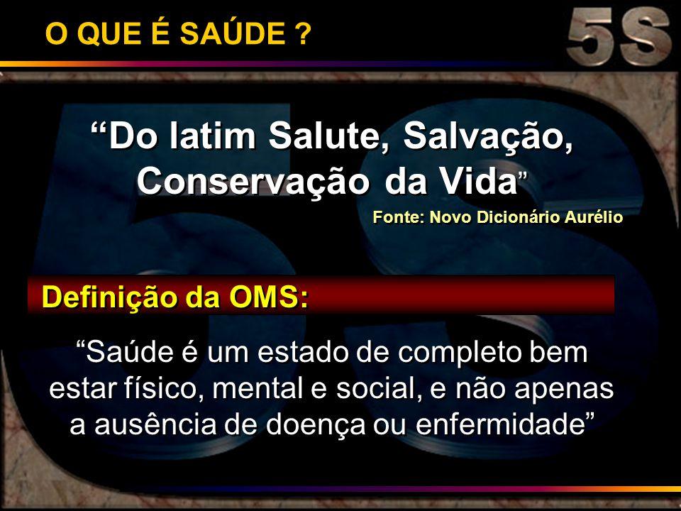 Do latim Salute, Salvação, Conservação da Vida