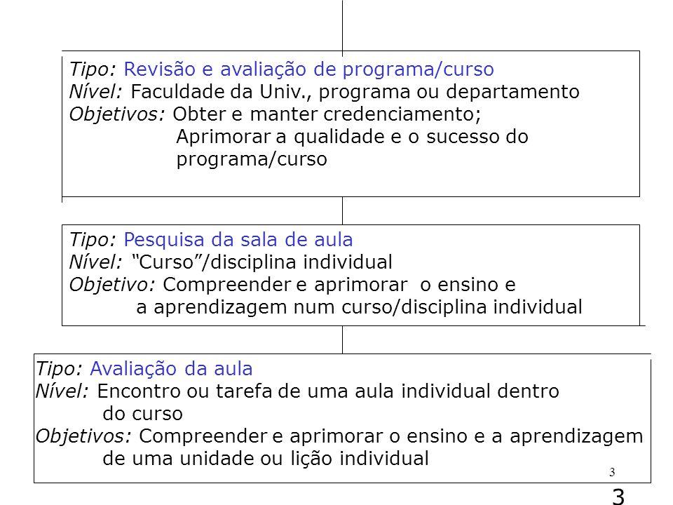 3 Tipo: Revisão e avaliação de programa/curso