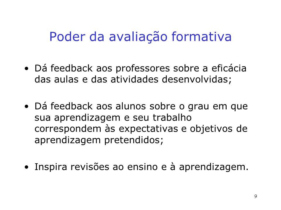 Poder da avaliação formativa