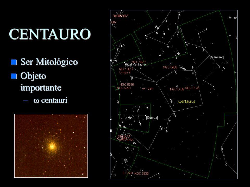 CENTAURO Ser Mitológico Objeto importante w centauri