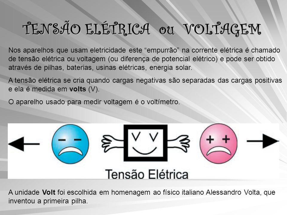 TENSÃO ELÉTRICA ou VOLTAGEM