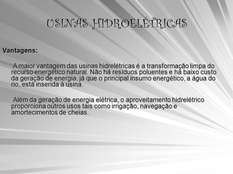 USINAS HIDROELÉTRICAS