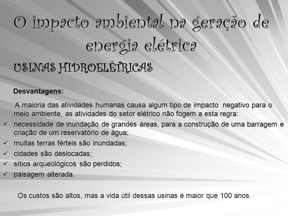 O impacto ambiental na geração de energia elétrica