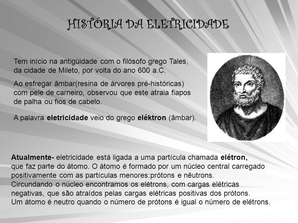 HISTÓRIA DA ELETRICIDADE