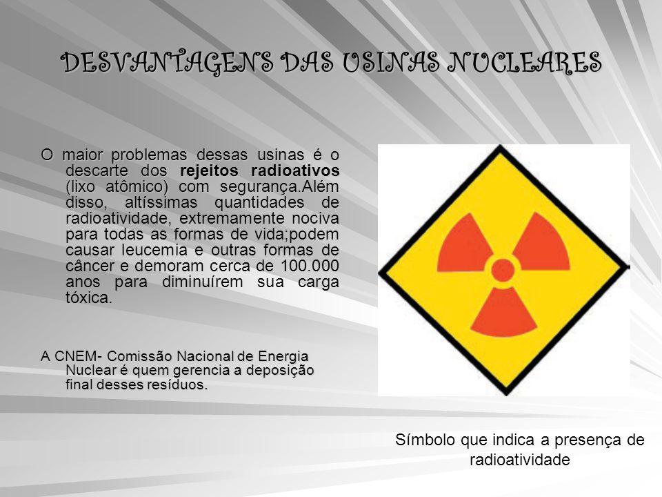 DESVANTAGENS DAS USINAS NUCLEARES