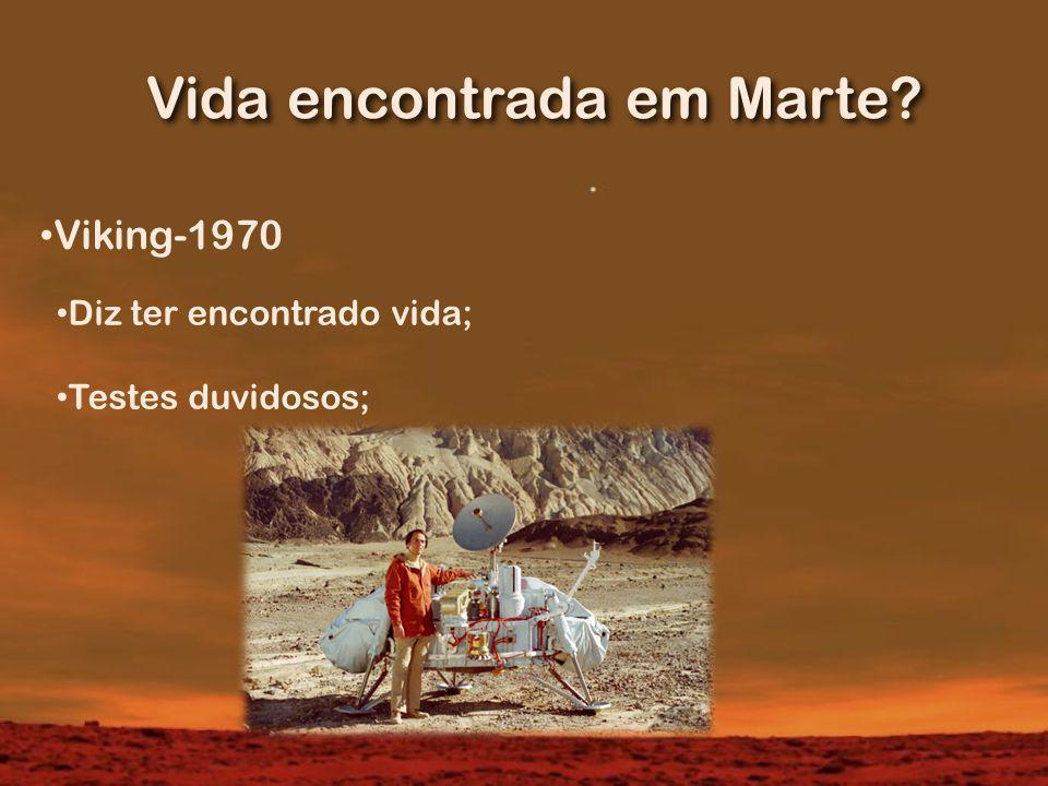 Vida encontrada em Marte
