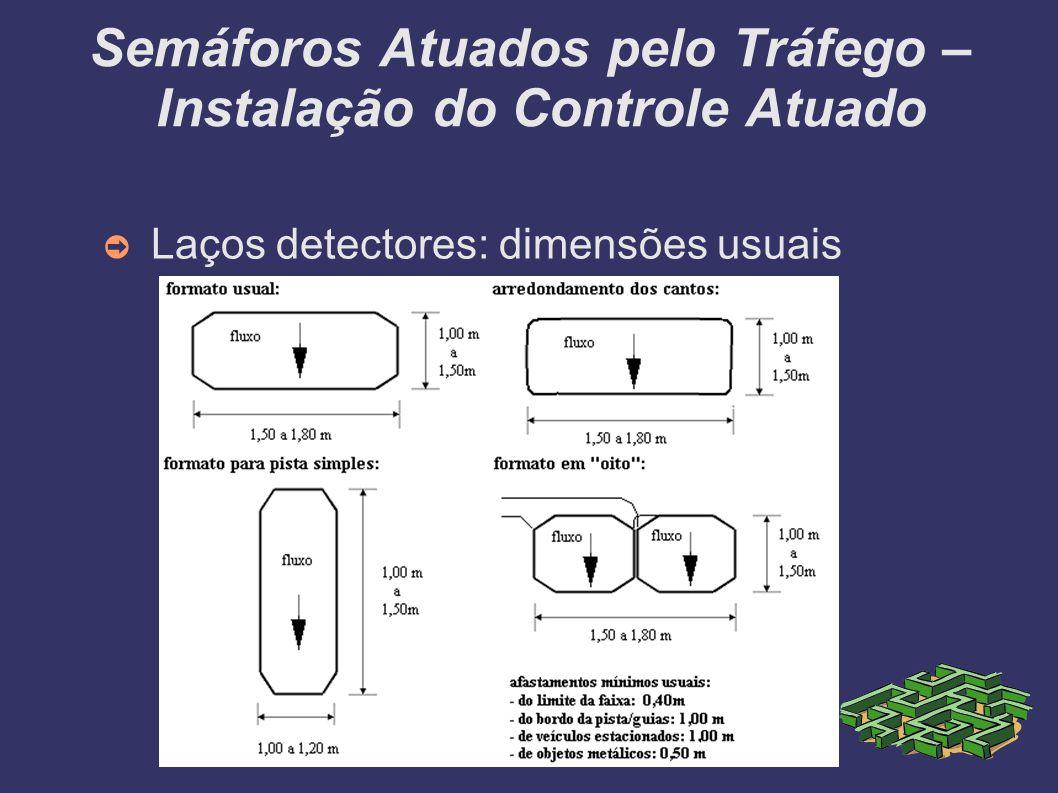 Semáforos Atuados pelo Tráfego – Instalação do Controle Atuado