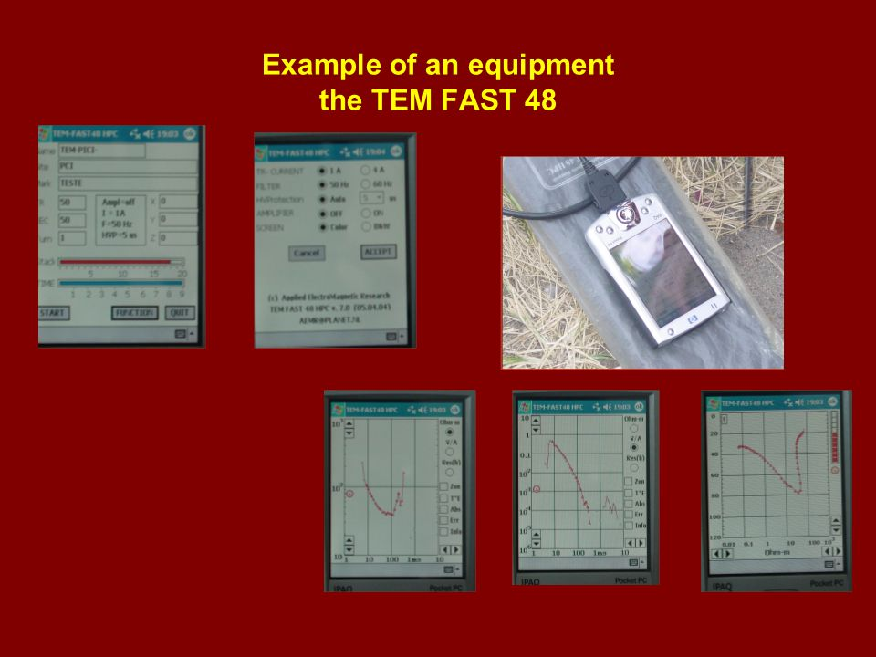 Example of an equipment the TEM FAST 48