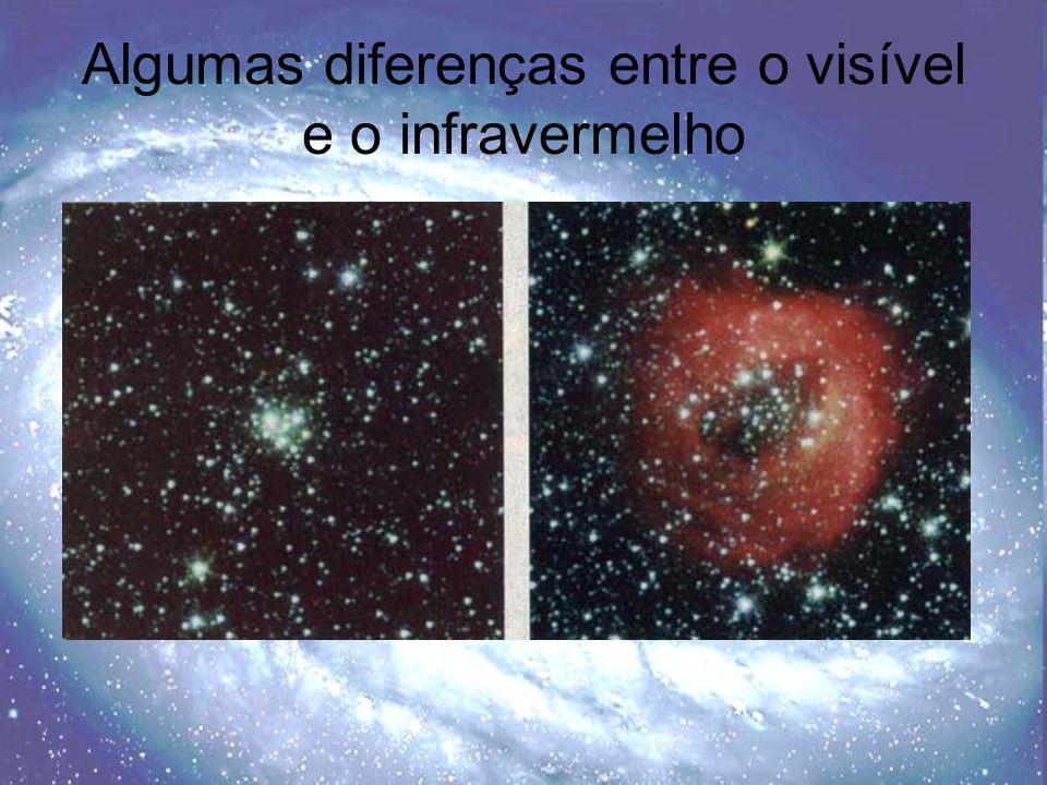 Algumas diferenças entre o visível e o infravermelho