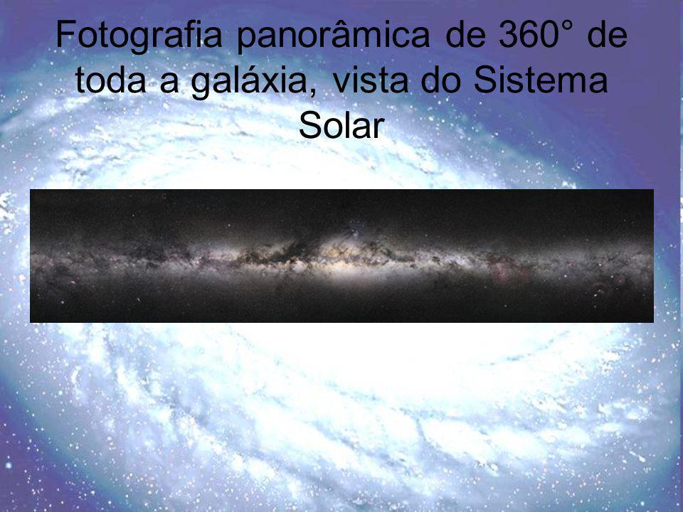 Fotografia panorâmica de 360° de toda a galáxia, vista do Sistema Solar