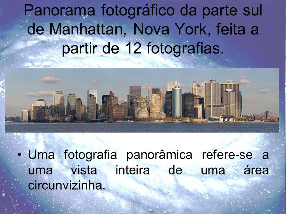 Panorama fotográfico da parte sul de Manhattan, Nova York, feita a partir de 12 fotografias.
