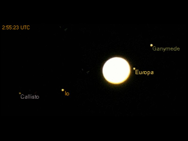 Europa occulted by Jupiter 02:55 - 03:27 UTC July 29, 2006 1 sec - f4